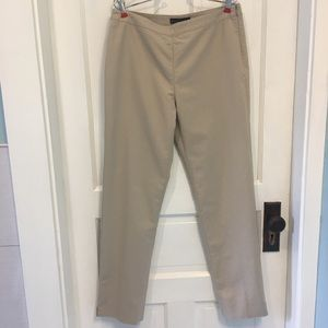 Lafayette 148  Bleecker straight pant side zip